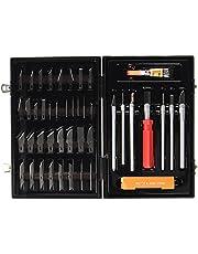 Masidef - Juego de 50 cuchillos con accesorios de madera para modelismo y bricolaje