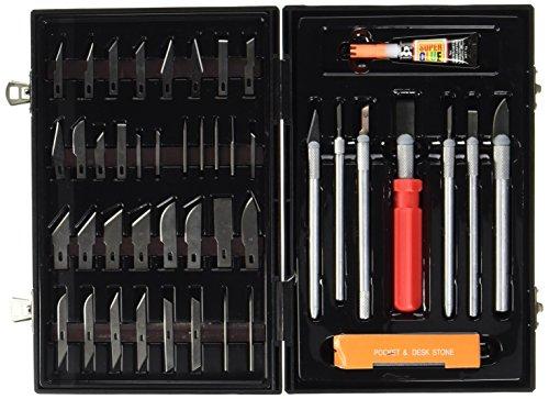 Max-Power Set Coltelli Tagliabalsa + Accessori, per Modellismo e Bricolage 50 pz