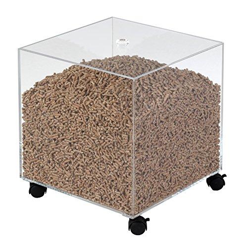 Les Ateliers Dixneuf 005.4101 - Contenitore per pellet di legno, a forma di cubo