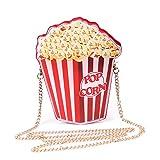 LUI SUI Borsa a tracolla per ragazze in pelle PU Cupcake Gelato Popcorn Carina scatola portafogli Borsa a tracolla Piccola borsa a tracolla per personalità a tracolla piccola