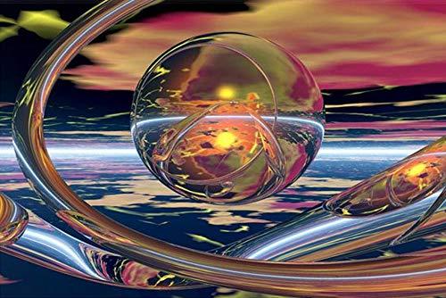 Diamond Painting Planeta De Cristal Diamond Painting Kit Completo Adultos Pintura con Diamantes Niños Punto De Cruz Diamante Diy 5D Diamond Painting Hogar Decoracion 40X50Cm