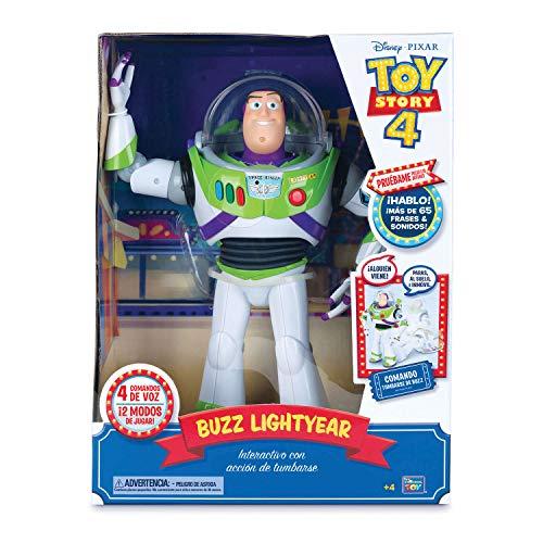 Bizak - Toy Story Figura Articulada Buzz Lightyear Super Interactivo 30 cm