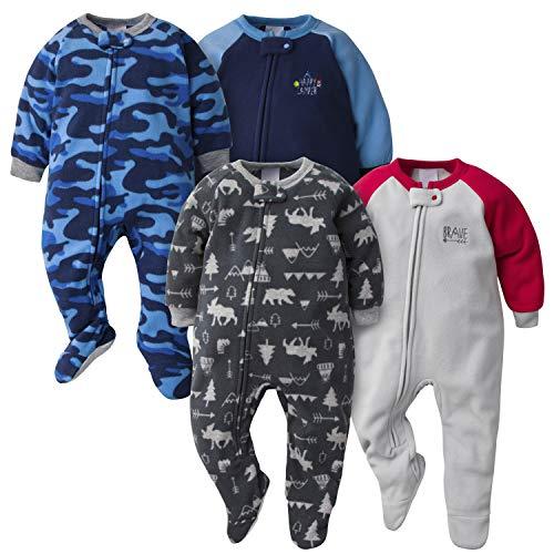Gerber Baby Boys' 4-Pack Blanket Sleeper, Camo/Brave, 4T
