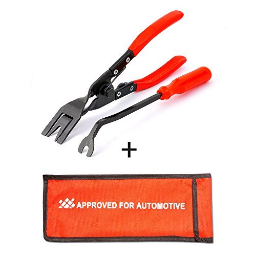 AFA Tooling (2 Pcs) Clip Plier Set and Fastener Remover- The Most Essential Push Pin Removal Tool