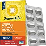 Renew Life Adult Probiotic - Ultimate Flora Everyday Go-Pack Probiotic Supplement - Shelf Stable, Gluten, Dairy & Soy Free - 15 Billion CFU - 30 Vegetarian Capsules