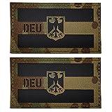 DEU – Deutschland-Flagge IR-Infrarot reflektierende dekorative Applikationen Patches taktische Militär Moral Abzeichen