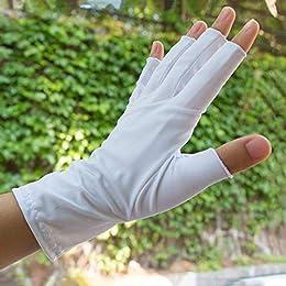 resistentes al desgaste Ciclismo Conducir guantes de pesca Loe Primavera verano Dexterous Hielo guantes de medio dedo de seda unisex Protector solar antideslizante Guantes sin dedos transpirables