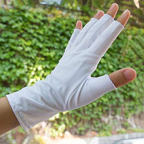 Loe Primavera verano Dexterous Hielo guantes de medio dedo de seda, unisex Protector solar antideslizante Guantes sin dedos transpirables, resistentes al desgaste Ciclismo Conducir guantes de pesca