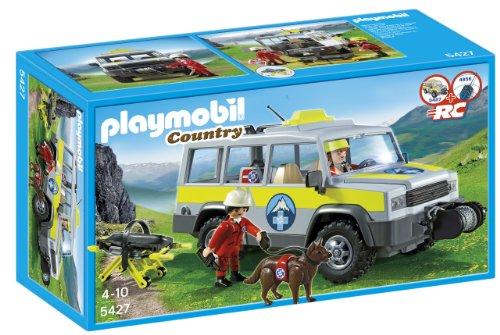 Playmobil Vida en la Montaña - Vehículo de Rescate de montaña, Juguete Educativo, Multicolor, 35 x 12,5 x 20 cm, (5427)