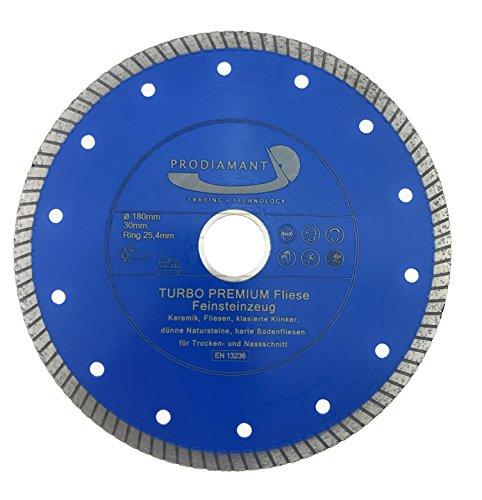 Preisvergleich Produktbild PRODIAMANT Premium Diamant-Trennscheibe Fliese 180 mm x 22, 2 mm Diamanttrennscheibe PDX83.975 180mm