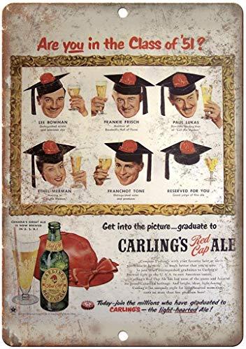 Generies Carling's Red Cap Ale Bier Blechschild Retro Nostalgie Industrie Stil Bar Restaurant Hintergrund Wanddekoration Persönlichkeit Wanddekoration