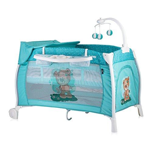 Lorelli 10080021811 Lit Parapluie + Mode Lit à Bascule Ilounge Vert