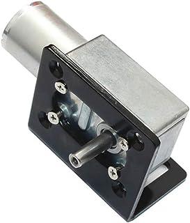Asdomo 12V 125RPM Motor reductor de tornillo sinfín con soporte