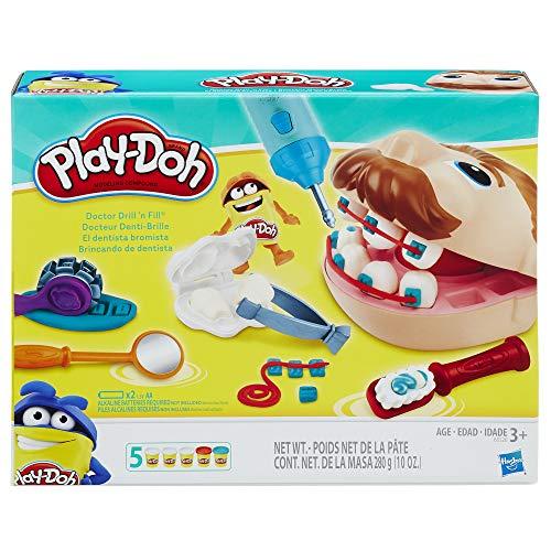 Brinquedo Conjunto Massinha Play-Doh Dentista Clássico - Com 5 potes de massinha - B5520 - Hasbro
