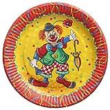 PAPSTAR Teller, Pappe rund Ø 23 cm Clown 88580 Pappteller Einwegteller, 10 Stück