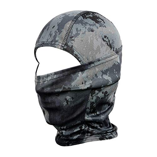 wtactful Camouflage Balaclava Hood Ninja Outdoor Cycling Motorcycle Motorbike Hunting Military Tactical Airsoft Paintball Helmet Liner Gear Wind Dust Sun UV Protection Breathable Full Face Mask SB-01