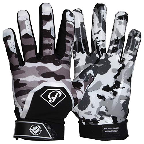 Prostyle Tactical American Football Receiver Handschuhe - weiß Gr. L