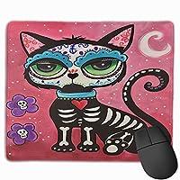 マウスパッド 猫 カラフル Mousepad ミニ 小さい おしゃれ 耐久性が良 滑り止めゴム底 表面 防水 コンピューターオフィス ゲーミング 25 x 30cm
