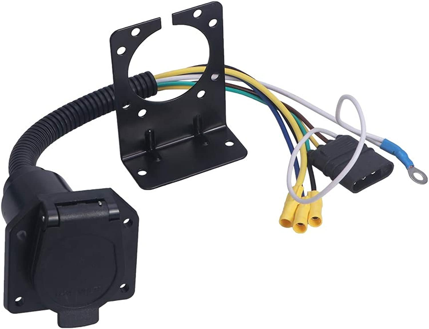 Gift4Car  MultiTow Trailer Adapter Kit Wiring Connector with Socket Connector Mounting Bracket