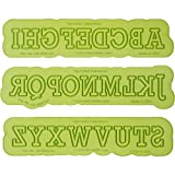 Block Uppercase Letter Maker   Flexabet Silicone Cutter and Mold for Cakes by Marvelous Molds