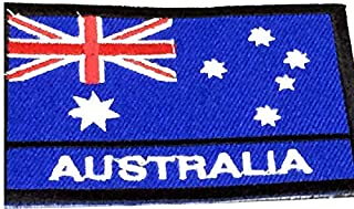 Patch Portal Australia National Emblem 2x3 Inch Sew On Patches Stitch Flag Embroidered Badge Australian Nation Country Aus...