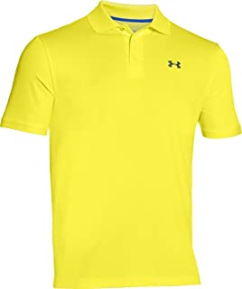 Under Armour Performance Camisa Tipo Polo para Hombres, Sunbleached/Stealth Gray, Mediano