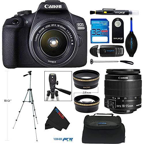 Canon EOS 2000D / Rebel T7 Digital SLR Camera w/...