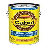 Cabot 140.0003000.007 Wood Toned Deck & Siding Stain, Gallon, Natural