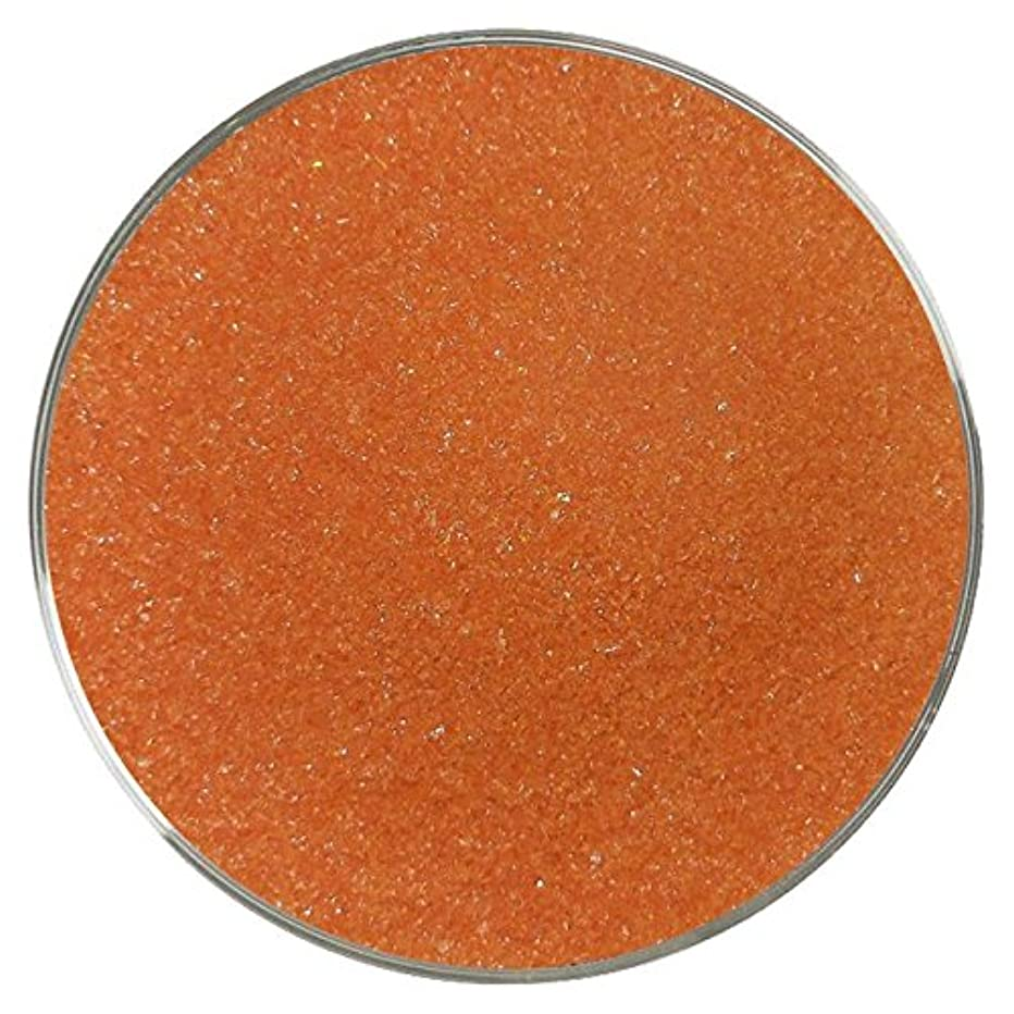 Orange Opalescent Fine Frit - 96COE - 4oz - Made from System 96 Glass