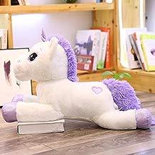 CGDZ Gigante Unicornio Peluches Lindo Rosa Caballo Blanco Suave Muñeca de Peluche Animal Grandes Juguetes para Niños Regalo de Cumpleaños Blanco 110 cm