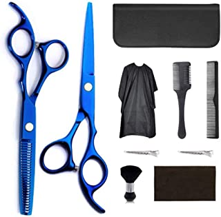 Hair Cutting Scissors Kits, Stainless Steel Hairdressing Scissors Kits, Barber Scissors, Clips, Professional Barber Sets w...