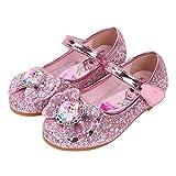 YOSICIL Zapatos de la Princesa Elsa niñas con Lentejuela Zapato de Disfraz Elsa...