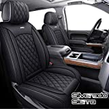 Aierxuan Seat Covers for Cars Full Set Chevy Chevrolet Silverado GMC Sierra Pickup 2007-2021 1500 2500HD 3500HD Crew Double Extended Cab Waterproof Leather Seat Protectors (Full Set, Black) -  YITAI