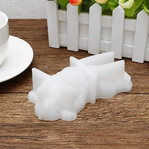 MASUNN Slapen Siliconen Hond Vorm Mousse Cake Chocolade Snoep Cookie Mold Diy Bakvorm Wit
