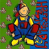 グリーティングカード 誕生日/バースデー ハッピーハウス「男の子:Happy Birthday」3つ折り イラスト メッセージカード 封筒付き 輸入雑貨