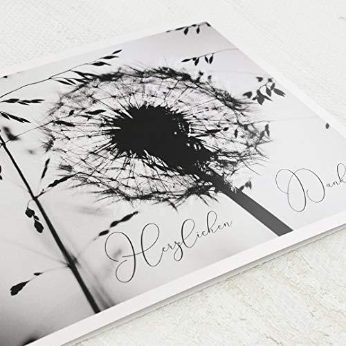 sendmoments Danksagung zur Trauer, Dankeskarten, Schatten der Erinnerung, 5er Klappkarten-Set C6, personalisiert mit Text, wahlweise mit persönlichen Bildern, optional Design-Umschläge