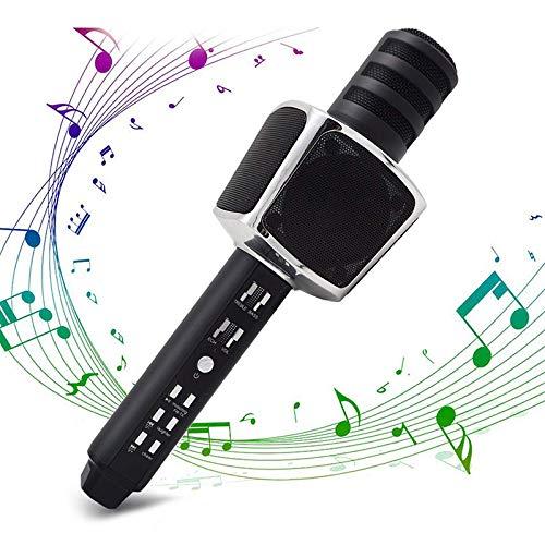 Inalámbrica Bluetooth El micrófono de Karaoke, 4 en 1 portátil de Mano Karaoke Altavoz Reproductor para Android/iPhone/iPad/PC/al Aire Libre/Partido