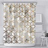 RPLW Dekorative Duschvorhang Für Badezimmer,Gedruckt Duschvorhang,Waffel Duschvorhang,Wasserdicht Polyester Duschvorhang-K W:180xh:180cm