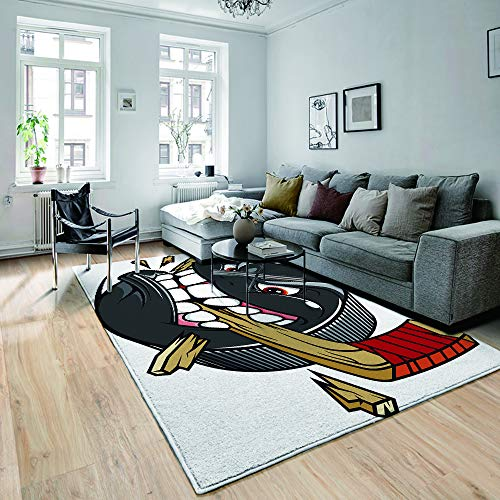 not Teppiche,Fußmatten,Buntes geometrisches Muster Memphis im modernen abstrakten Form-Spaß-Bauhaus,Flur Fußmatten,Bodenmatte,rutschfeste,Bodenmatte,Wohnzimmer Teppich,150×180CM