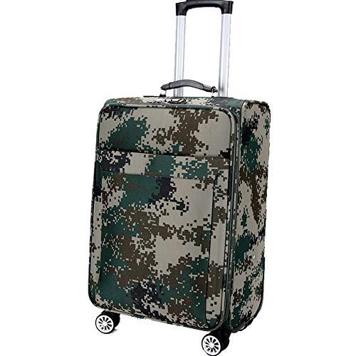 Cestbon Oxford Cloth Camouflage Trolley Case Maleta De Equipaje, Camuflaje Verde 20 Pulgadas,Camuflaje