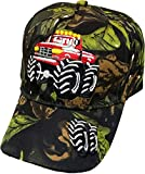 R&M Headwear Children's Embroidered Monster Truck Baseball Hat/Cap (Multiple Colors Available) (Camo)