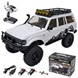 EAZYRC Patriot 1/18 2.4Ghz Crawler RC Car, All Terrain Hobby 4WD Off Road Truck Vehicle Models RTR for Boys Kids - Batteries x2