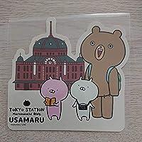 うさまる 東京駅丸の内駅舎 ダイカットステッカー カメラ ステッカー くまさん うさこ