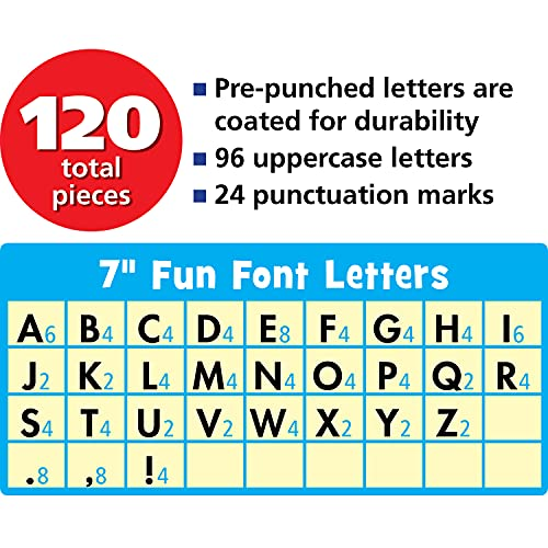 """Teacher Created Resources 77282 Electric Bright 7"""" Fun Font Letters Photo #4"""
