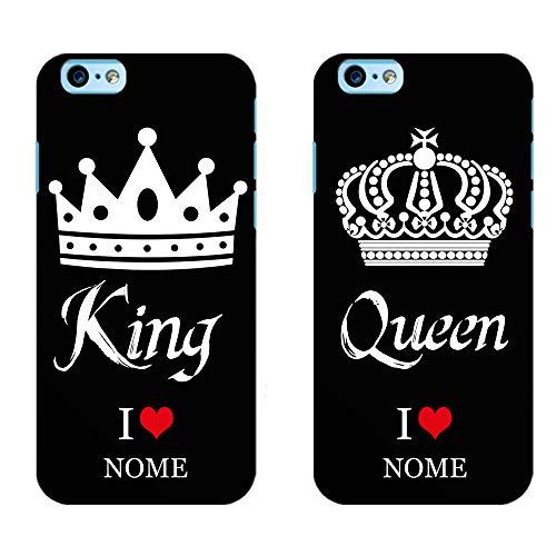 Ku Coppia Cover King Queen Love per iPhone in TPU Morbida Nera Idea Regalo FIDANZATI San Valentino Festa (King iPhone 5 5S SE, Queen iPhone 5 5S SE)