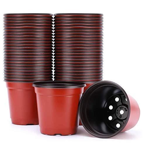 Guangyu Macetas de Plástico para Plantas Flores 50pcs 15cm Macetas de Inicio de Semillas,Macetas de Vivero Macetas, Contenedor de Plantas de Flores