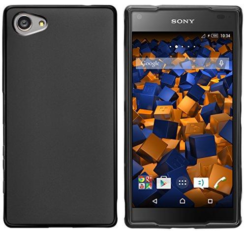 mumbi Funda Compatible con Sony Xperia Z5 Caja del teléfono móvil, Negro