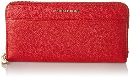 Michael Kors Mercer, Portafoglio Donna, Rosso (Bright Red), 17.8x10.2x2.5 cm (W x H x L)