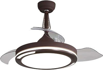 Ventilador de techo invisible 42 pulgadas moderno con luz y ...