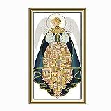 Miwaimao Kits De Punto De Cruz Para Adultos, Paquete De Material De Bordado De Pintura De Pasillo De Sala De Estar De Ángel 11ct42*68cm